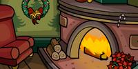 Cozy Fireplace Background