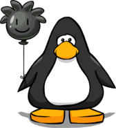Black Puffle Balloon on a Player Card
