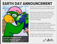 Earth Day Announcement 1
