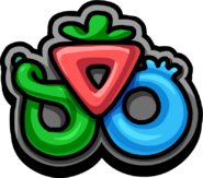 School & Skate Party Puffle Berry Mall Logo