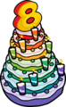 8th Anniversary Party Cake