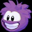 Purple puffle 3d icon