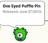 One Eyed pUFFLE in Stamp Boook