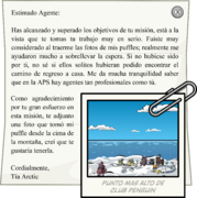 Letter from Aunt Arctic full award es