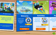 Club Penguin Island Party interface page 1