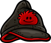 Red puffle cap