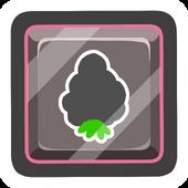 Black O'berry Pin icon