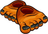 Orange Frankenfeet