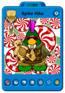 Spike Hike's Holiday Player Card