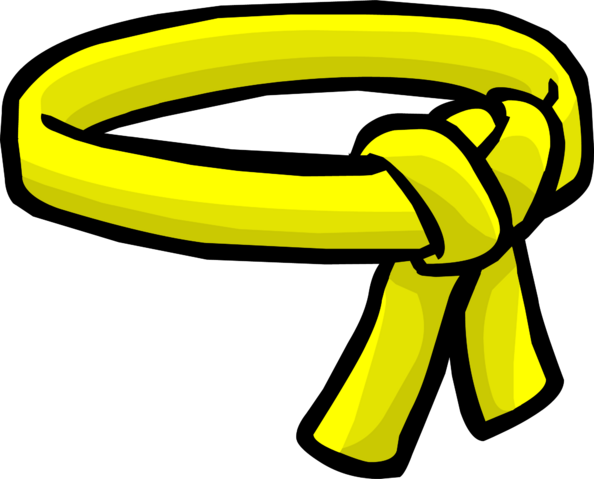 File:Yellow Ninja Belt icon.png
