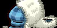 Blue Fuzzy Hat