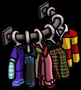 Clothes Shop Shirts Rack 2