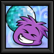 Purple Puffle Picture sprite 002