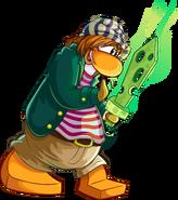 Pirate Party 2014 login screen penguin
