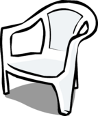 White Plastic Chair sprite 002