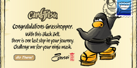 Card-Jitsu Black Belt postcard