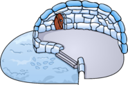 Snowy Backyard Igloo