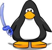 Blue Balloon Sword from a Player Card