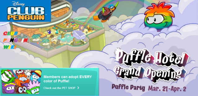 File:Club Penguin custom WIKI homepage Puffle Party 2013.png