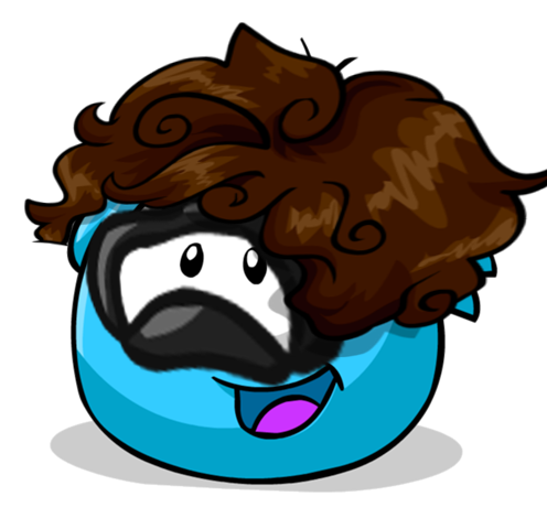 File:Puffle Custom Blue with mask and wig.png