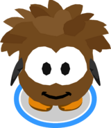 Brown Puffle Costume in-game