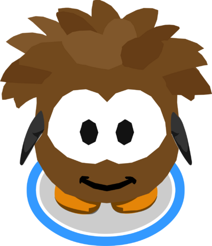 File:Brown Puffle Costume in-game.png