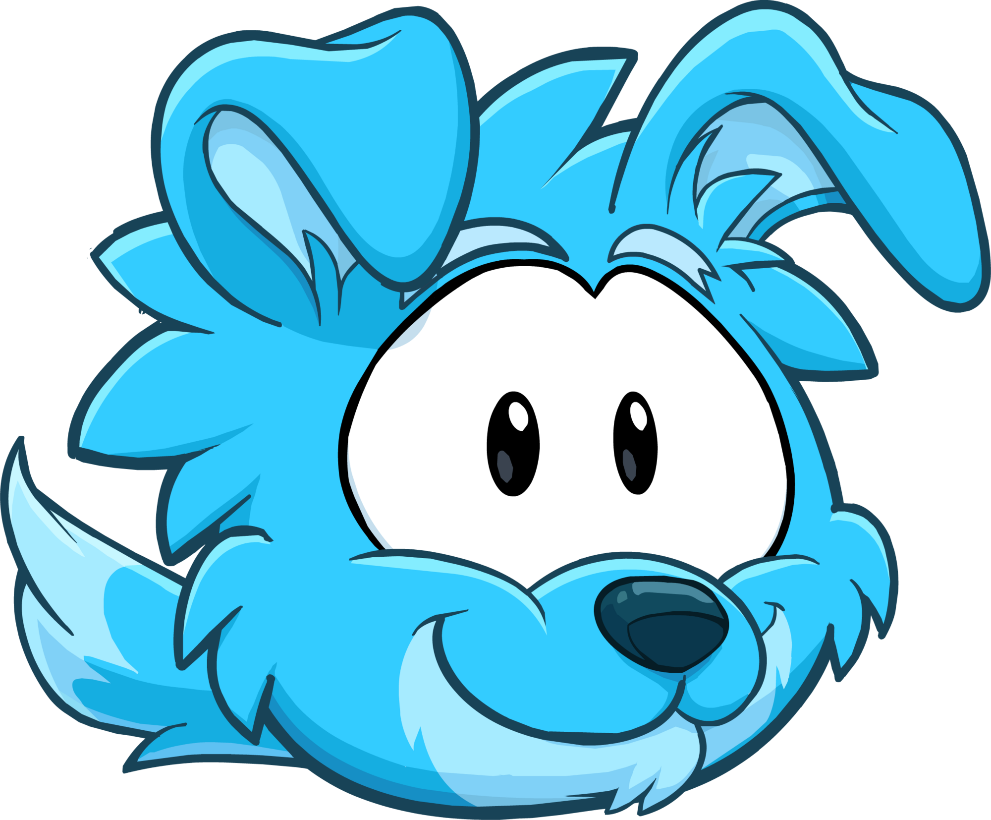 puffle 2014 transformation player card blue border collie - Club Penguin Coloring Pages Ninja