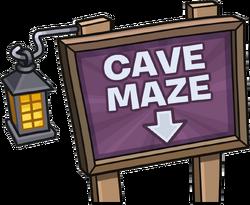 Cave Maze sign