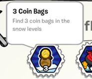 3 coin bags PR stamp book
