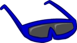 Blue Sunglasses clothing icon ID 107 2.png