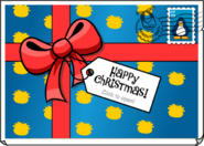 Happy Christmas Postcard closed
