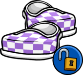 PurpleCheckeredShoes