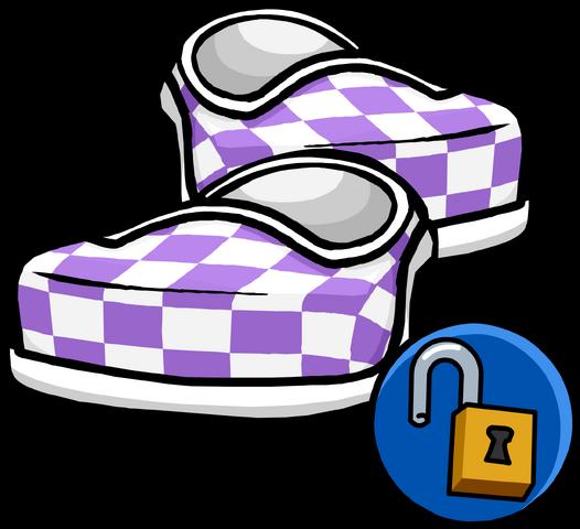File:PurpleCheckeredShoes.png