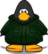 Green Winter Jacket from a Player Card