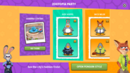 Zootopia Party app interface page 1