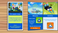 Club Penguin Island Party app interface page 1