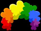 Puffle Care icons Head Rainbowfro