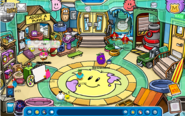 Yellow puffle floor