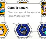 Clam treasure stamp book