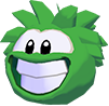 Green puffle 3d icon