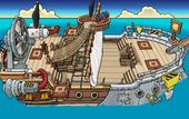 Rockhopper's Quest Migrator sailing to Beach