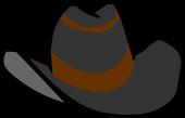 Black Cowboy Hat clothing icon ID 433