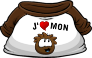 I Heart My Brown Puffle T-Shirt icon fr