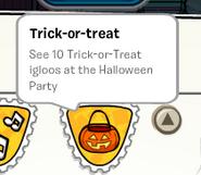 Trick-or-treat stamp SB