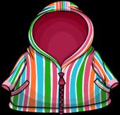 Pink Striped Raincoat