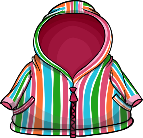 File:Pink Striped Raincoat.png