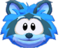 Blue raccoon 3d icon