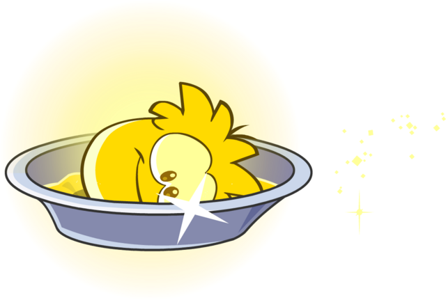 File:Gold Puffle Bath.png
