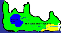 The State of Idoreconise map