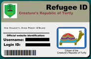 Turtly refugee card